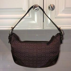 Coach Plum & Chocolate Brown Hobo Shoulder Bag